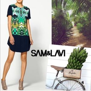 Sam & Lavi Belem Paradise Color Block Dress SZ S